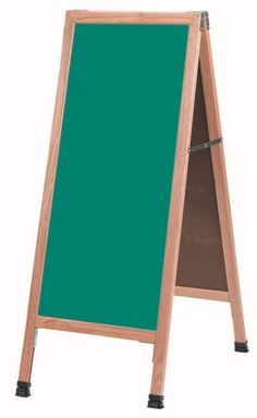 """AA-311SG - 42""""H x 18""""W Aluminum Frame w/Green Porcelain Markerboard 