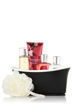 Japanese Cherry Blossom Chalkboard Bathtub Gift Set - Signature Collection - Bath & Body Works