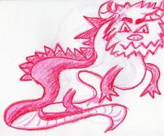 créature fantastique monstre taureau fuschia 1200 Illustrations, Rooster, Art, Exquisite Corpse, Taurus, Animaux, Art Background, Illustration, Kunst