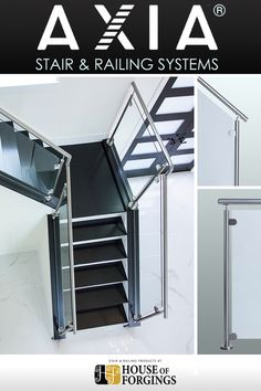 Cheap Stair Parts - Shop Iron Balusters, Handrail, Treads & Newels Cheap Stair Parts, Parts Of Stairs, Modern Railing, Modern Stairs, New Staircase, Staircase Remodel, Cable Railing, Stair Railing, Glass Railing System