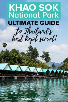 Khao Sok National Park & Floating Bungalows Thailand. Heading to Southern Thailand, you have to visit Khao Sok. We have the complete guide on what to do, where to stay and the best tours. Get ready to explore the oldest rainforest in the world! #Thailand #KhaoSok #FloatingBungalows #NationalPark