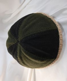 Green and black Viking hat from Birka with tablet braid. (8) - Othala Craft