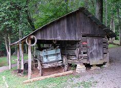 CORN CRIB Appalachia Museum, Norris, Tennessee - Travel Photos by Galen R Frysinger, Sheboygan, Wisconsin