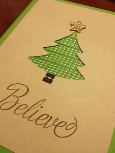 Homemade Card  Christmas Card  Greeting Card  by after5creations, $12.50