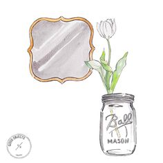 Good objects - Gold and silver #illustration #watercolor #interiordesign #masonjar #goodobjects