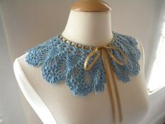 Crocheted Victorian Lace Collar in Antique by CatsSoftStitches