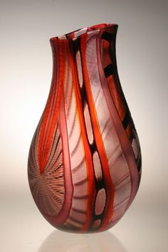 Murano Art Glass Vase by Gianluca Vidal