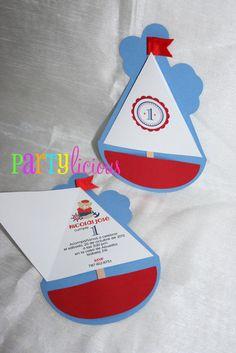 {Little Sailor Bear 1st Birthday}   CatchMyParty.com