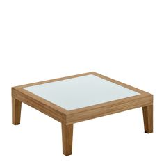 Solo Square Side Table w/Glass Top
