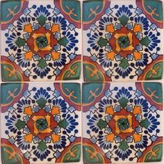 mexican tile - kitchen backsplash, bathroom & stairs © | talavera