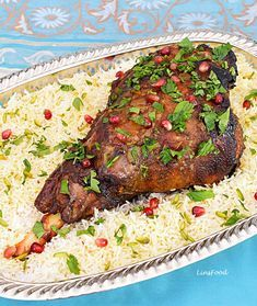 Persian Roast Lamb - a touch of exotic with Pomegranate Molasses - Recipes Iranian Cuisine, Iranian Food, Beef Recipes, Cooking Recipes, Easy Lamb Recipes, Pomegranate Molasses, Lamb Dishes, Roast Lamb, Gourmet