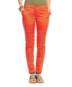 Lava  Sand Stretch Sateen African Dot Skinny Pants | Daily deals for moms, babies and kids