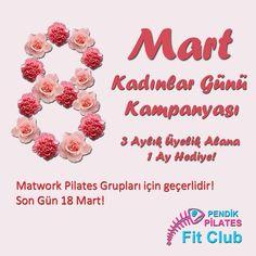 Pendik Pilates ' ten Kadınlar Günü Kampanyası!