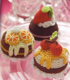 Crochet desserts