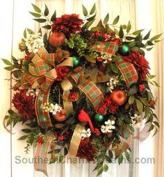 still making Christmas wreaths at   http://ilovebeautifulbeaches.blogspot.com