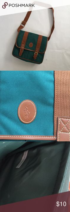 EUC Polo Bag Small messenger style bag. Approx 10 x 10 inches. Made by Ralph Lauren Polo Polo by Ralph Lauren Bags Satchels