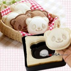 Japanese Bento Lunch Sandwich Cutter Mold Stamp Panda - All Things For Sale