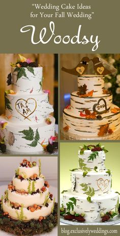 Wedding Cake Ideas for Your Fall Wedding - Woodsy