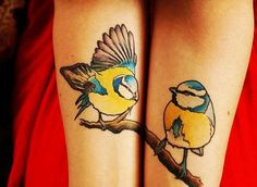 Design Ideas for Unique Couple Tattoos, Bird Cute Unique Couple Tattoos On Arm