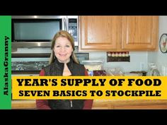 Year's Supply Seven Basic Foods to Stockpile Prepper Pantry Year of Food - YouTube Canning 101, Freeze Drying, Preserving Food, Mother Earth, Food Storage, Homestead, Pantry, Prepping, Survival