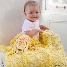 Sunshine Baby Crochet Blanket Free Download - Herrschners