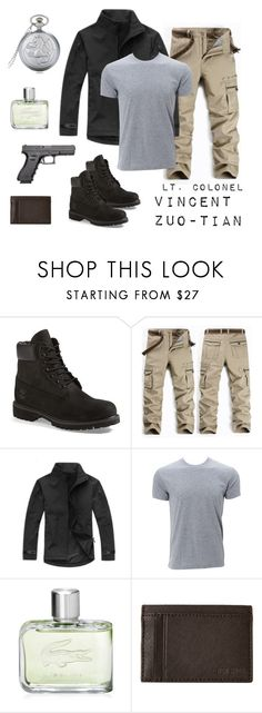 """FMA OC Vincent"" by thatshippertypefangirl ❤ liked on Polyvore featuring Timberland, Simplex Apparel, Lacoste, Jack Spade, men's fashion and menswear"