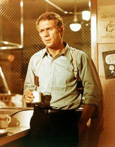 """Steve McQueen in """"Bullitt"""" (Peter Yates,1968)"""