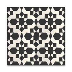 Affos Black and White Handmade Cement and Granite Moroccan 8-inch x 8-inch Floor and Wall Tile (Pack of 12) - 17516799 - Overstock.com Shopping - Great Deals on Moroccan Mosaic Accent Pieces