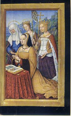 1500 - 1508 - Jean Bourdichon - Hours of Anne of Bretagne - http://commons.wikimedia.org/wiki/File:Grand_Heures_Anna_von_der_Bretagne,_K%C3%B6nigin_von_Frankreich1.JPG