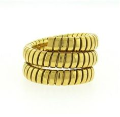 Bulgari Bvlgari Tubogas 18K Gold  Snake Ring