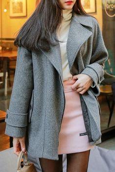 Women's Korean Fashion Cute Asian Fashion, Korean Fashion, Asian Style, Korean Style, Shy Girls, Fashion Outfits, Fashion Trends, Style Me, Zipper