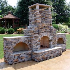 FireRock Arched Masonry Outdoor Wood Burning Fireplace side with flames on top or inside walls Outdoor Wood Burning Fireplace, Outside Fireplace, Outdoor Fireplace Designs, Backyard Fireplace, Outdoor Fireplaces, Brick Fireplace, Garden Fire Pit, Fire Pit Backyard, Backyard Seating