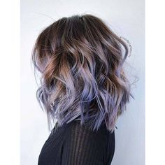 Brunette with lavender ombre