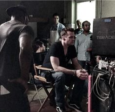 Gabriel in director's chair. Directing The Boss. Gabriel Macht, Harvey Specter, The Man, Fangirl, Concert, Instagram Posts, Life, Fictional Characters, Director's Chair