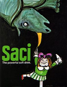 1960s Advertising - Poster - SACI the powerful soft drink 2 (USA)