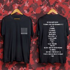 """Kanye West last album """"The Life Of Pablo"""" T-shirt inspired by Yeezus last album, Made by BuyOrCry"""