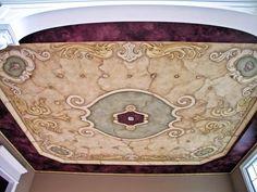 tuscan wall murals | Pine Street Studios > More Ceiling Murals: Seashell Tuscan Ceiling