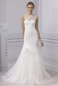 Vestido de novia 2013 a un hombro, corte sirena