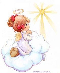angelito precious moments rezando