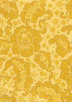 Rokokooaika / Tapetti / Keltainen / #yellow #pattern Diy Fashion, Pattern Design, Flooring, Yellow, Prints, Backgrounds, Dining Room, Pictures, Stairs