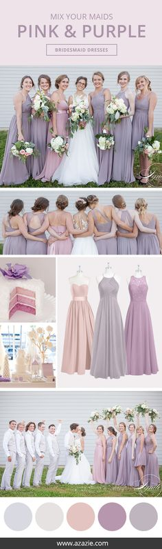 Still searching for some Fall wedding color inspiration? Go ahead and dress up your bridesmaids in this pink and purple collection! Choose from 150+ styles and let your bridesmaids' personalities shine by mixing-and-matching their favorite styles. Every dress for $150 or less!