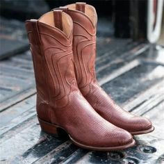 Men's Lizard Skin Cowboy Boots - Exotic Western Boot Brogue Chelsea Boots, Leather Chukka Boots, Leather Chelsea Boots, Mens Short Boots, Ankle Boots Men, Men's Boots, Dress Boots, Alligator Boots, Mens Business Shoes