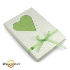 Book with green heart
