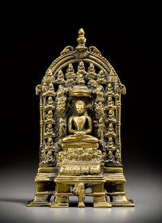 A brass Jain shrine Western India, circa 15th century