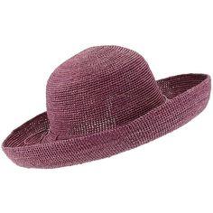 Helen Kaminski 12 Provence Raffia Hat (915 ILS) ❤ liked on Polyvore featuring accessories, hats, charcoal, brimmed hats, band hats, raffia hat, travel hat and helen kaminski