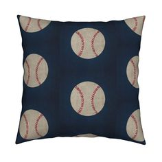 Catalan Throw Pillow featuring working baseball vntage navy - Large 7  by drapestudio | Roostery Home Decor