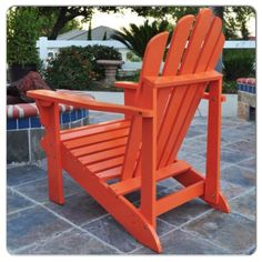 Orange wood outdoor chair