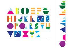 GEOMETRIC TYPE by Josefina Santos1, via Flickr - used 12 shapes to create font type