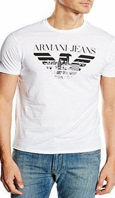Moda Center, Armani Jeans, Emporio Armani, Shirt Print, T Shirt, Printed Shirts, Shirt Designs, Short Sleeves, Cotton