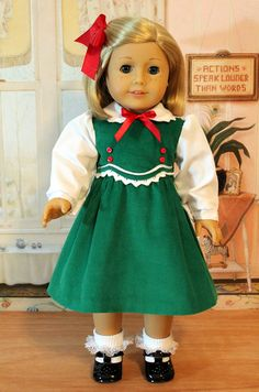 1930s Christmas Dress for American Girl Doll Like by BabiesArtUs